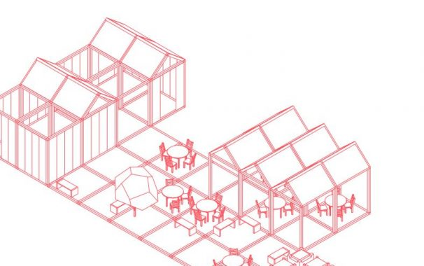 Illustration ur  rapporten Mobility hubs of the future.